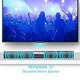 Connoworld Wireless Bluetooth Soundbar Home Theater TV Laptop Surround Stereo Audio Speaker