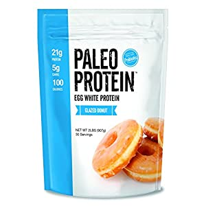 Paleo Protein Powder Glazed Donut (2 LBS Total)(30 Servings Total) (Keto/Low Carb) (Soy/GMO/Gluten Free)