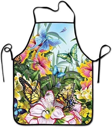 Eastlif Delantal Babero Mariposas en el Jardín Originalidad Delantal de Cocina Cocina Chef Panadero Servidores BBQ Craft Hombres o Mujeres: Amazon.es: Hogar