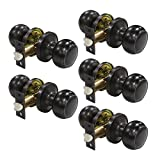 5 pack Probrico Interior Hallway Passage Closet Keyless Doorknobs Door Lock Lockset 609-ORB-PS in Oil Rubbed Bronze