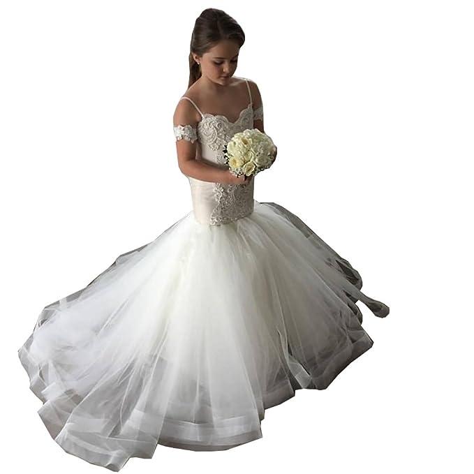 Amazon.com: gzcdress sirena vestidos de niña de las flores ...