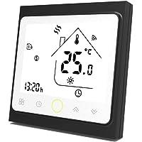 Qiumi Termostato Wifi para calefacción individual de calderas de gas/agua funciona con Amazon Alexa, Google Home IFTTT…