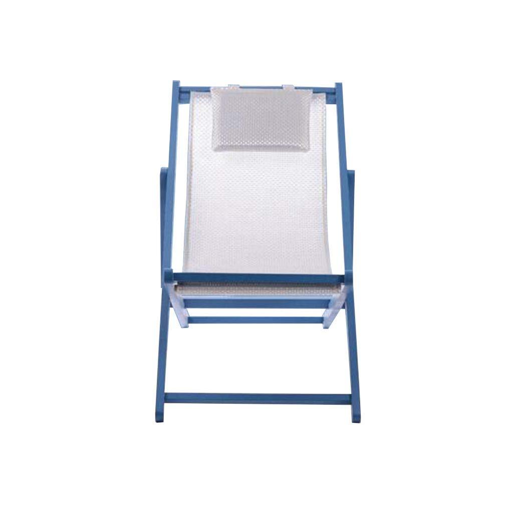 QZ HOME Stühle, Klappstuhl Sonnenliege Mittagspause Stuhl Liegestuhl Liegestuhl Tragbar Einfach Haushalt Im Freien (Farbe   Weiß)