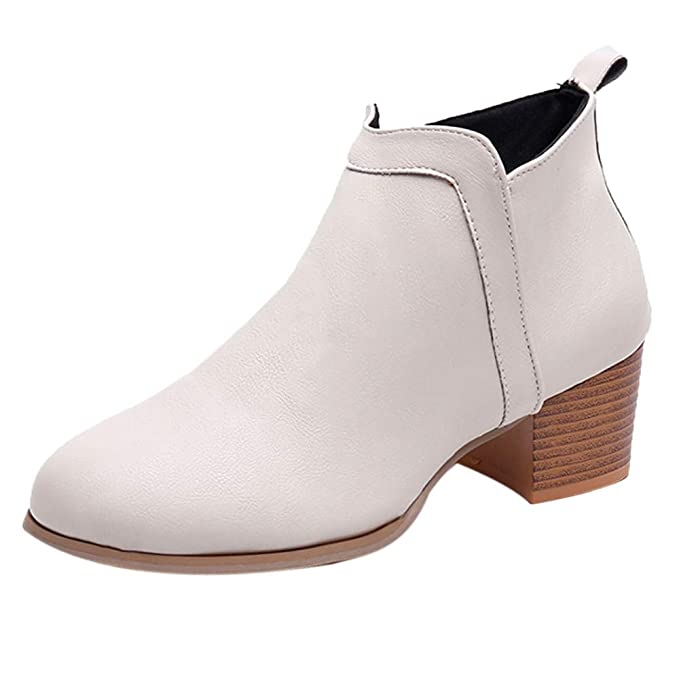 2018 shoes new products hot-selling newest Amazon.com: Ninasill Women Ankle Boots Low Heel Boots Short ...