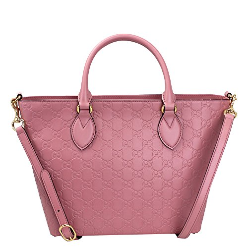 Gucci Guccissima Pink Leather Tote Bag With Strap 432124
