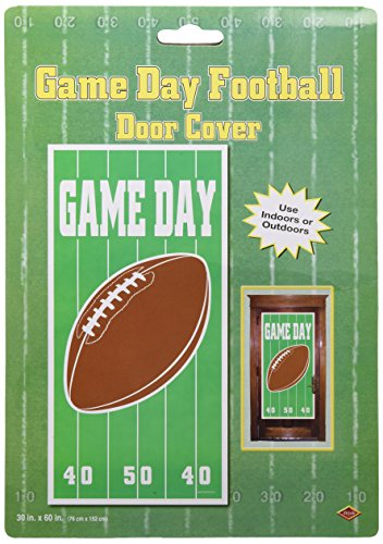 Football Door Decorations - Game Day Football Door Cover Party