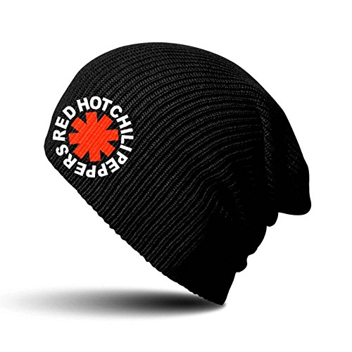 Red Hot Chili Peppers Beanie Hat Asterisk Official Black Slouch