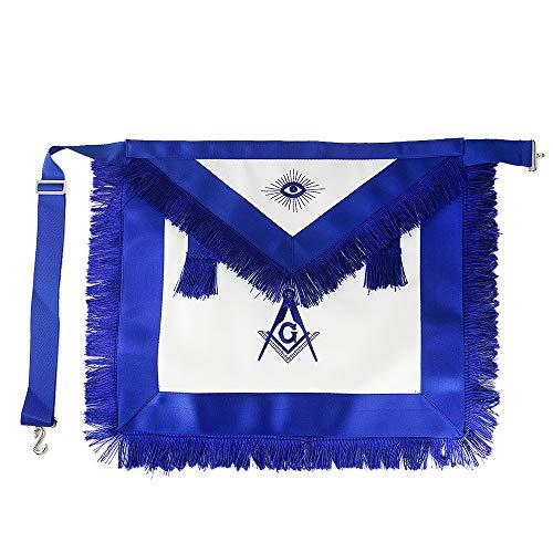 Master Mason Masonic Apron Blue Lodge Leather Square & Compass for Freemason