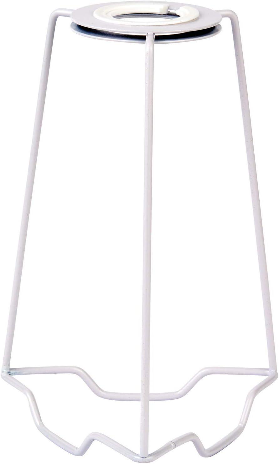 Gimble//Gimbal Metall-St/ützrahmen Lampenschirm-Halterung gl/änzender wei/ßer Stahl passend f/ür 25 mm Durchmesser Lampenst/änder