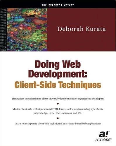 Doing Web Development: Client-Side Techniques