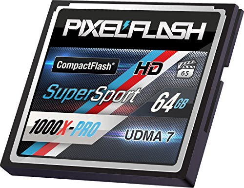 PixelFlash 64 GB SuperSport CompactFlash Memory Card 1106X Pro Fast Transfer Speeds up to 167MB/s for Photo and Video Storage by PixelFlash (Image #2)