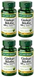 Ginkgo Biloba Standardized Extract 120 mg, 4 Bottles (100 Count)