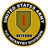 1 Pc Persuasive Unique United States U.S. Army 1st Infantry Division Veteran Stickers Signs Decor Car Decals Outdoor Laptop Sticker Truck Bumper Trucks Window Decal Bike Patches Size 4.5''x4.5''