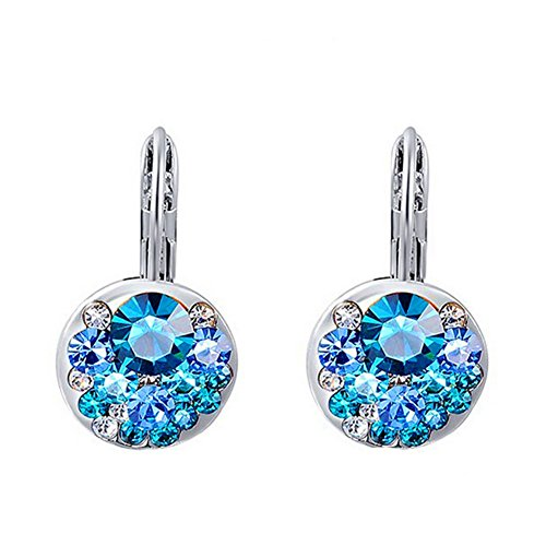 [KaiSasi Womens Blue Diamond Crystal Ear Clips] (Rock And Roll Costumes Diy)