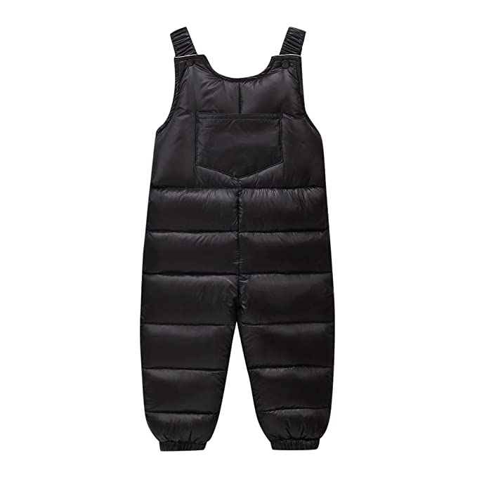 34bd6515244 Amazon.com  Rosiest Kids Baby Girl Boys Winte Thick Warm Suspenders Strap  Pants Overalls Trousers  Clothing