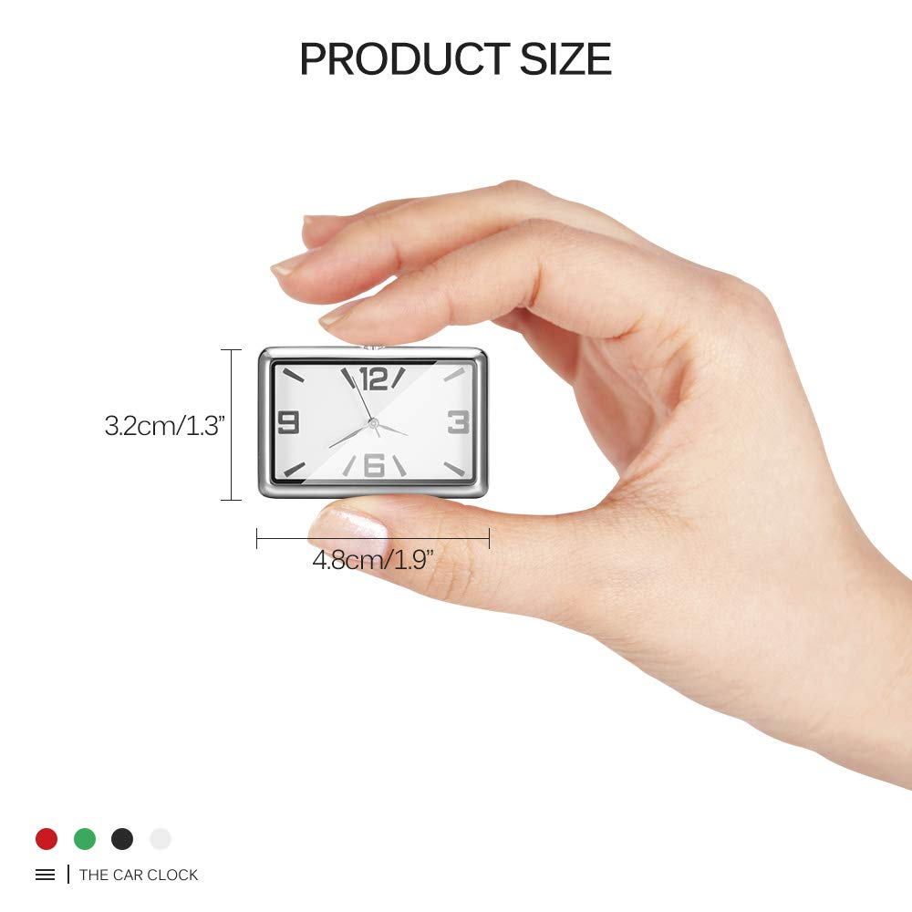 Universal Car Air Vent Quartz Clock Stick-On Clock for Office Cars SmartHitech Car Dashboard Clock