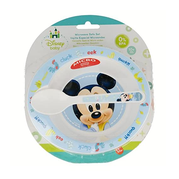 Stor Micro Baby Set Mickey Baby Paint Point, 2 Pieces, Multicolor