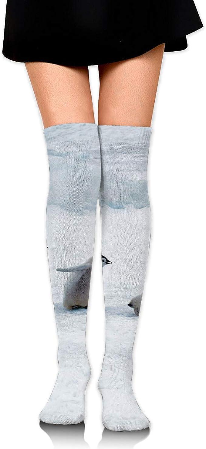 High Elasticity Girl Cotton Knee High Socks Uniform Funny Penguin Women Tube Socks