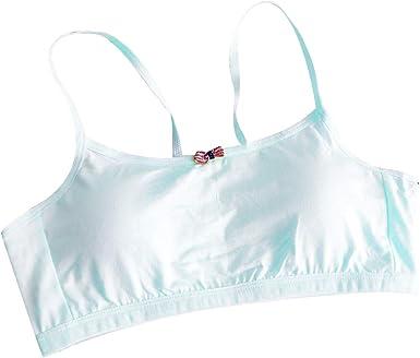 Tandou - Sujetador Deportivo para niña (algodón, con Acolchado en ...