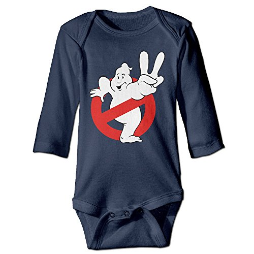 Kamici Baby Inflant Ghostbusters Yes Gesture Long Sleeve Climb Clothes Romper Navy 12 Months (Alien Princess Costume)