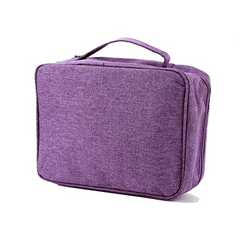 purifyou Classic Insulated Lunch Box - Compact, Easy Wash, Smooth Zipper & Lightweight - Tote Bag & Container, Lunch Bag for Men, Women, Kids, Boys, Girls, Adults (Ladies or Girls, Purple)