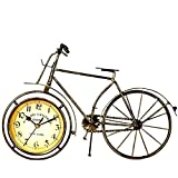 Cheap NEOTEND Handmade Vintage Metal Bicycle Clock Bike Mute Table Clock