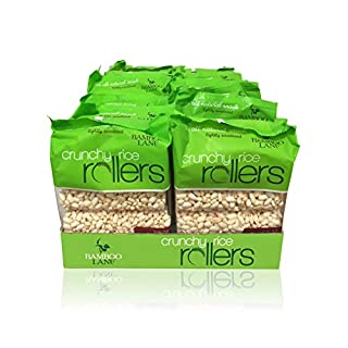 Crunchy Rice Rollers - Gluten Free - Vegan - 3.5 oz Individual Packs (12 Packs of 8 Rollers)