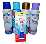 Faultless Professional Formula Starch and Magic Sizing Variety Pack Includes Four 20 Ounce Containers and One 1 Ounce Faultless Hot Iron Cleaner
