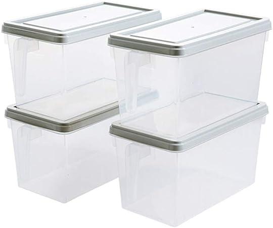 YANGQI Cajas Almacenaje Plastico 4 Paquetes Contenedores de ...