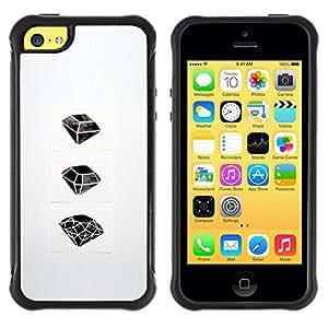 Paccase / Suave TPU GEL Caso Carcasa de Protección Funda para - Ruby Emerald Drawing Art - Apple Iphone 5C