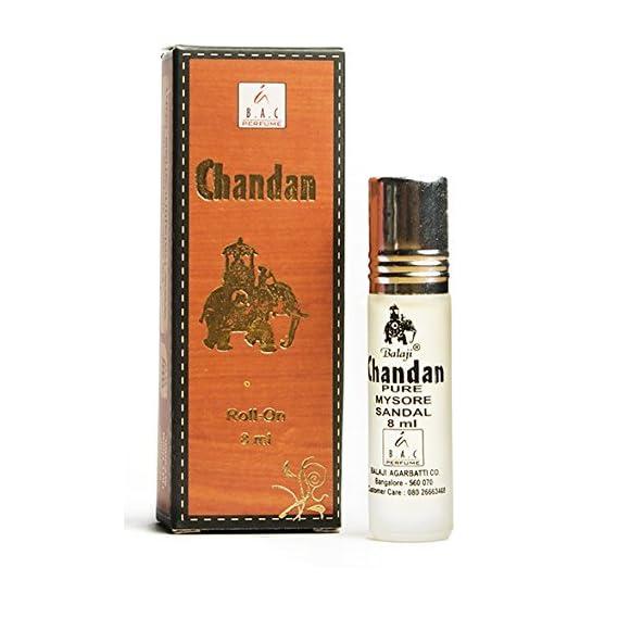 INDRA SUGANDH BHANDAR Balaji Chandan Pure Mysore Sandal Rollon Attar Perfume, 8ml