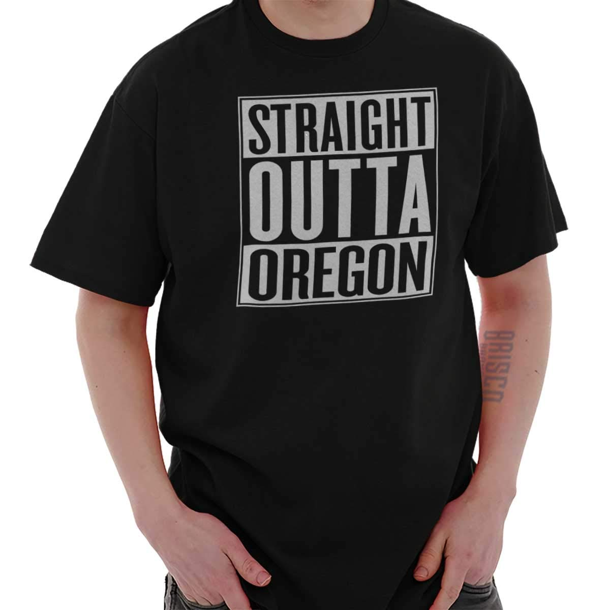 Straight Outta Oregon State Or Movie Gift T Shirt Tee