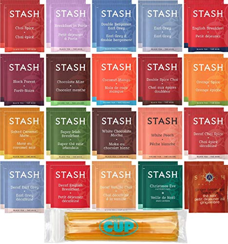 (Stash Tea Bag & By The Cup Honey Sticks Variety Sampler Including Black, Decaf & Oolong Teas - 40 Ct, 20 Flavor Assortment)