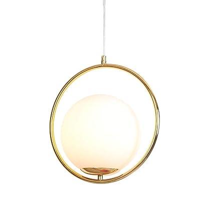 PEJGD Lámparas de Techo Moderno Color Dorado Luz Colgante ...