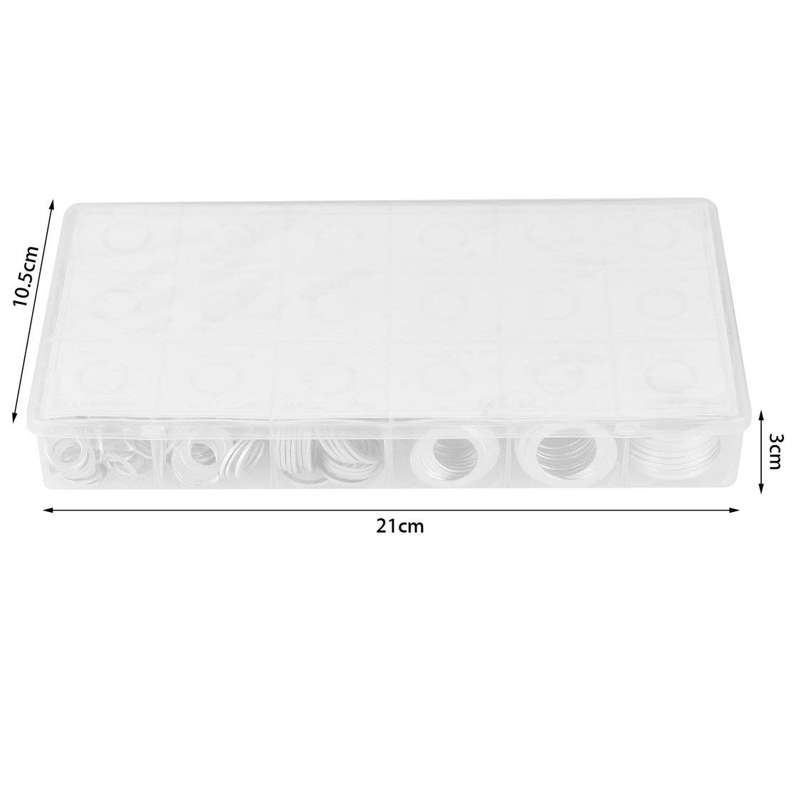 LouiseEvel215 450 st/ücke Versiegelt Sortiment Aluminiumdichtung Set Multifunktionale O-Ring Set Dichtring Set Mit Tragetasche Kit Set