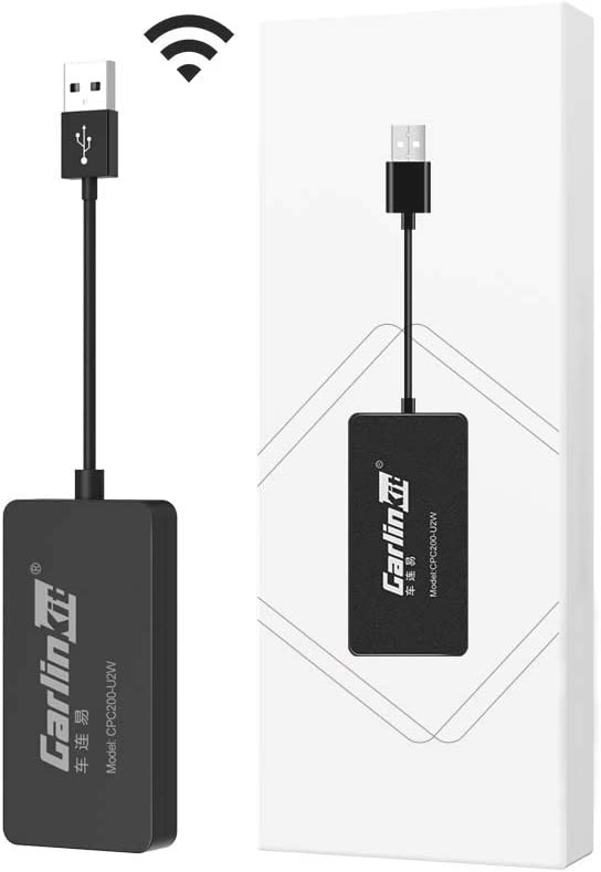 2021 Wireless CarPlay Adapter Dongle CarlinKit 2.0 Wired to Wireless CarPlay Adapter/Wireless CarPlay USB Dongle, Compatible with Factory CarPlay Cars