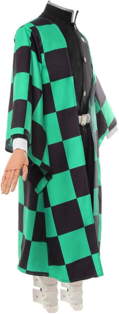 NSPSTT Demon Slayer Japanese Kimono Kimetsu No Yaiba Anime Cosplay Costume Halloween Outfits Blue
