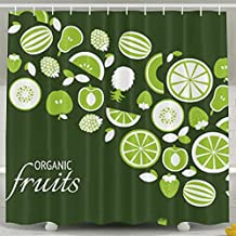 DVNMLY Green Organic Fruit Custom Waterproof Shower Curtain Bathroom Curtains 60x72 inches