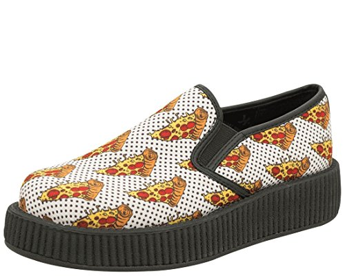 T.U.K. Shoes V8892 Unisex-Adult Creepers, Pizza Slip On Creepers - US: Men 12/Women 14 Tuk Creeper Shoes
