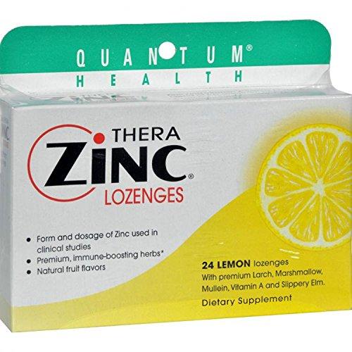 Zinc Lozenges Lemon Cold Season - 24 Each by Quantum