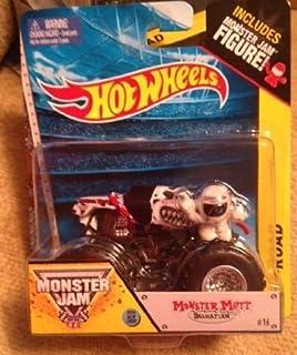 Monster Jam Monster Mutt El perro dálmata n. ° 16 en blanco y negro incluye la figura de Monster Jam 2014 nueva apariencia todoterreno