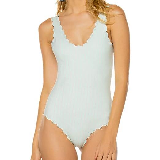 e91032db00a2f Amazon.com: LisYOU Women Siamese Bikini Set Push-Up Solid Swimwear  Beachwear Swimsuit(L,Khaki): Clothing