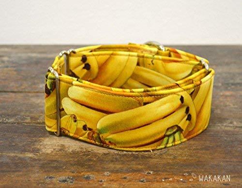 Hecho a Mano en Espa/ña por Wakak/án Collar Martingale Para Perro Banana