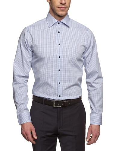 Schwarze Rose - Camicia Classico, Uomo, Blu (Blau (blau 13)), 2XL (45 DE)