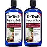 Dr Teal's Epsom Salt Moisturizing Shea Butter and Almond Oil Foaming Bath - Protect and Nourish Skin - Pack of 2, 34 Oz…