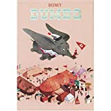 Japan Walt Disney Official Dumbo - Pink Hardcover Business Memo Pad with Square White Lined Paper Sheets Classic Poster Art Post It Bookmark Sticker Marker Notebook Planner Index Notes Stationery