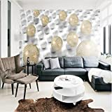 350cmX245cm Custom large fresco 3d solid metal sphere sphere expansion space modern minimalist background wall non-woven wallpaper,350cmX245cm