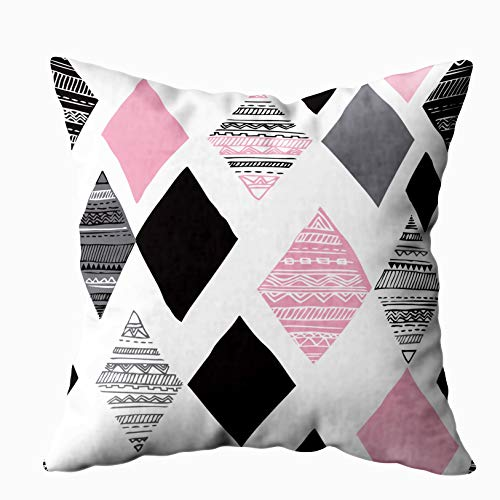 20x20 Pillow Case,Father Gift,Cushion Soft Home Sofa Decorative Throw Pillow Cases Douecilsh Geometric Diamond Tribal Triangle Background Pattern in Double Printed
