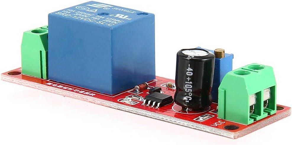 Funnyrunstore DC 12V NE555 Monostable Delay Relay Circuit Modulo di conduzione Trigger Switch Timer Tempo Regolabile Scudo Elettronica Arduino
