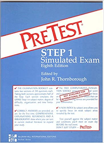 Pretest Step 1 Simulated Examination (PreTest: simulated